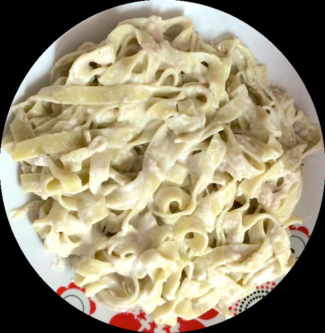 pasta de espinacas con atún