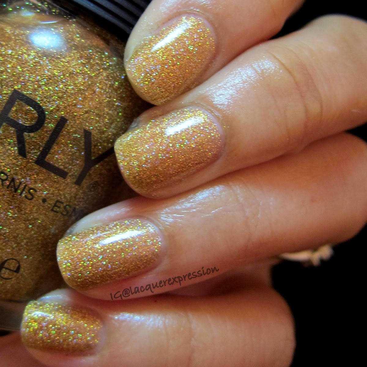 swatch of bling nail polish by orly