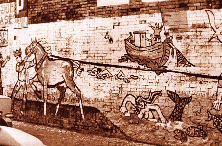 Un altro tratto del murales del 1976