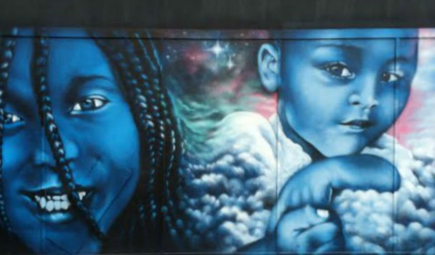 femme fierce street art croydon