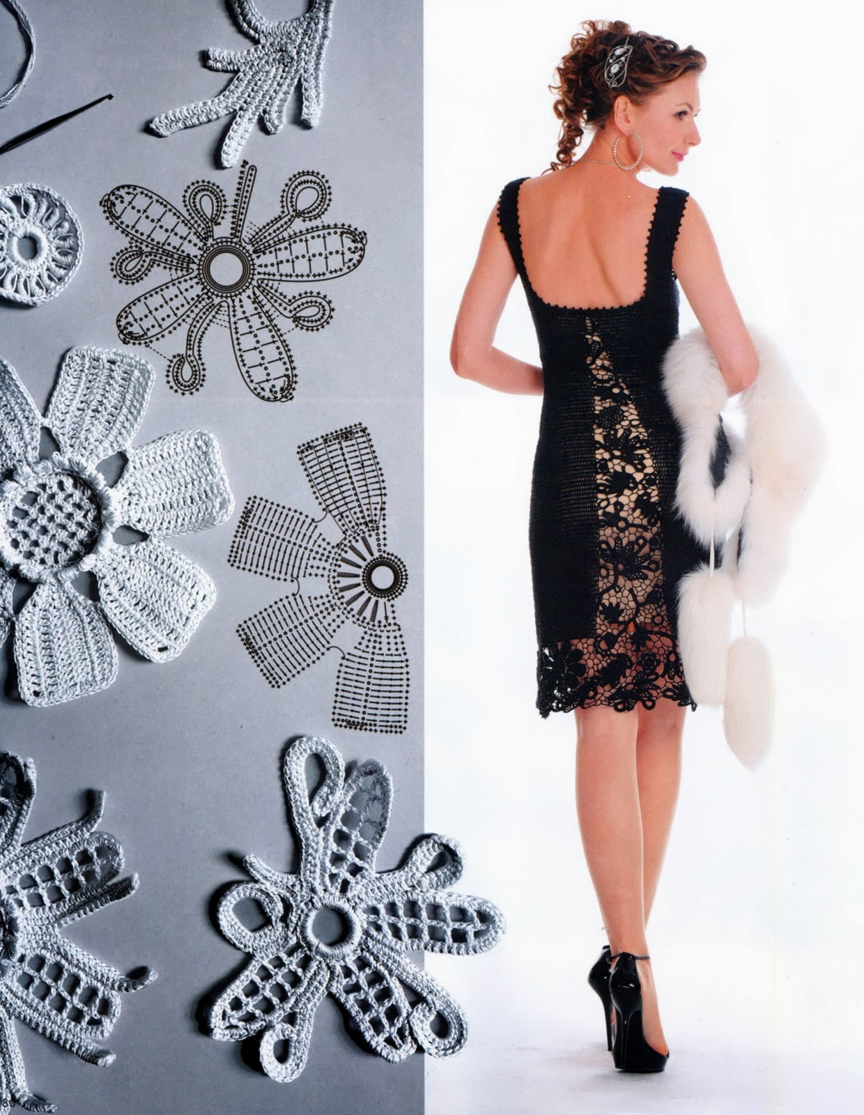 TRICO y CROCHET-madona-mía: Vestidos para mujeres a Crochet Ruso ...