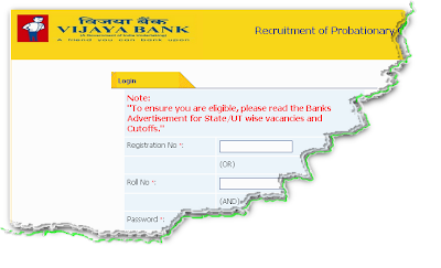 Vijaya Bank Clerk Recruitment 2012 Online Form