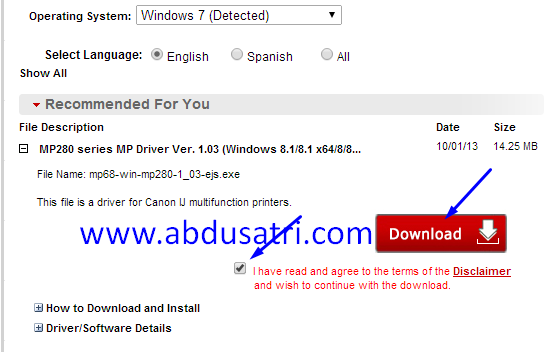 Install driver printer online