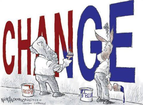 You will never get real change from the two party dictatorship!