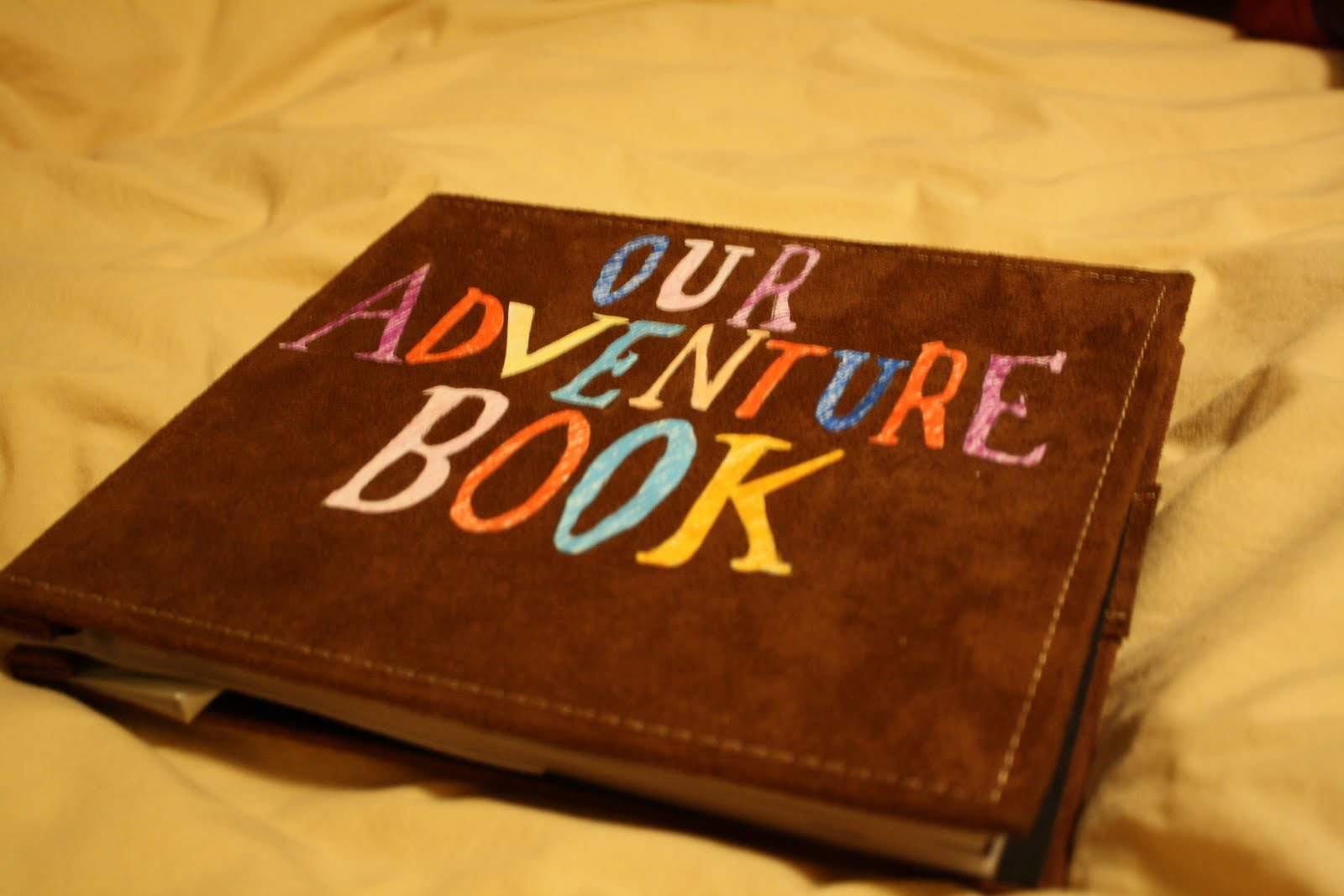 our adventure book up inside