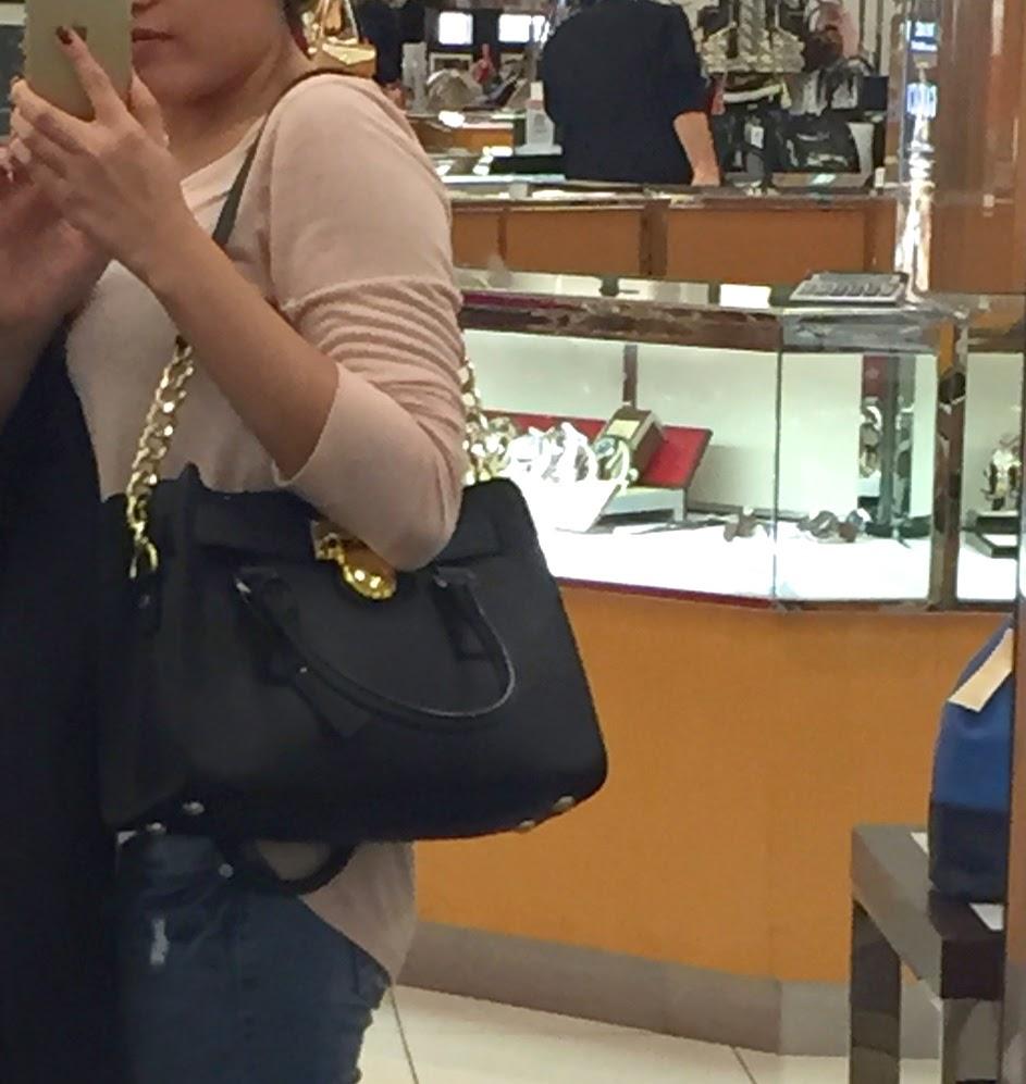 294c658a2e06 I got the Michael Kors Hamilton Saffiano bag at Macy s!!