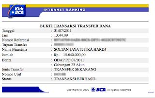http://bisniscariuangbanyak.blogspot.com/Bukti transaksi tranfer dana