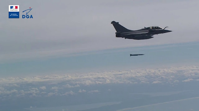 Rafale Meteor missile launch
