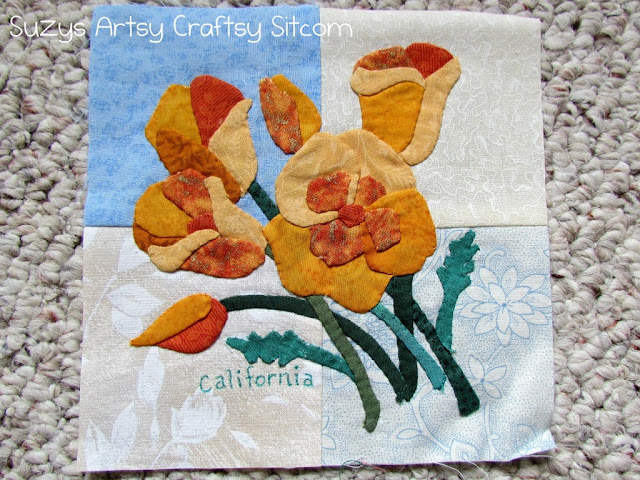 appliqued state flowers california