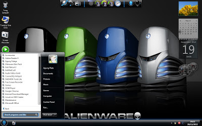 Download Blue Alienware Skin Pack 1.0 Untuk Windows 7