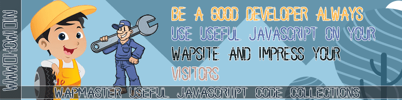 Wapmaster Useful Javascript Code Collections