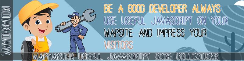 Wapmaster Useful Javascript Code Collections