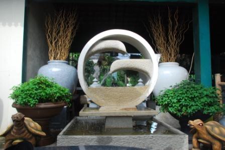 air mancur taman & pot: dalam roda