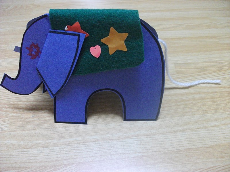 Paper Elephant Stand Up Craft Preschool Crafts For Kids