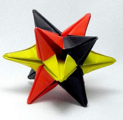 Origami 3d star make easy origami instructions kids for How to make 3d paper stars easy
