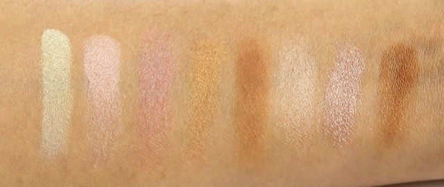 Freedom Makeup Bronze and Baked Palette Swatches