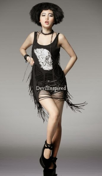 Devilinspired Punk Clothing Gorgeous Tassels And Net