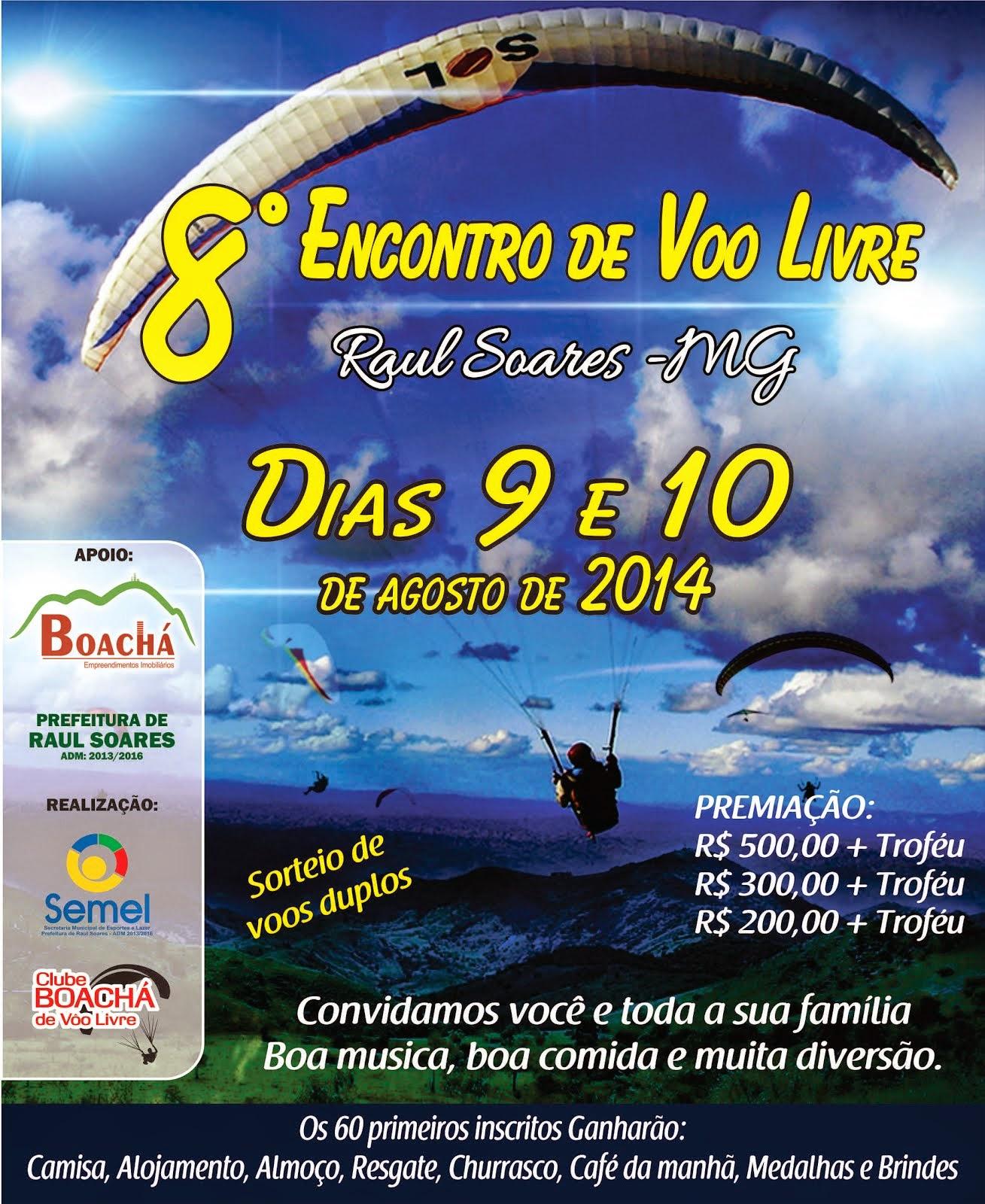 8º Encontro de Vôo Livre de Raul Soares/MG