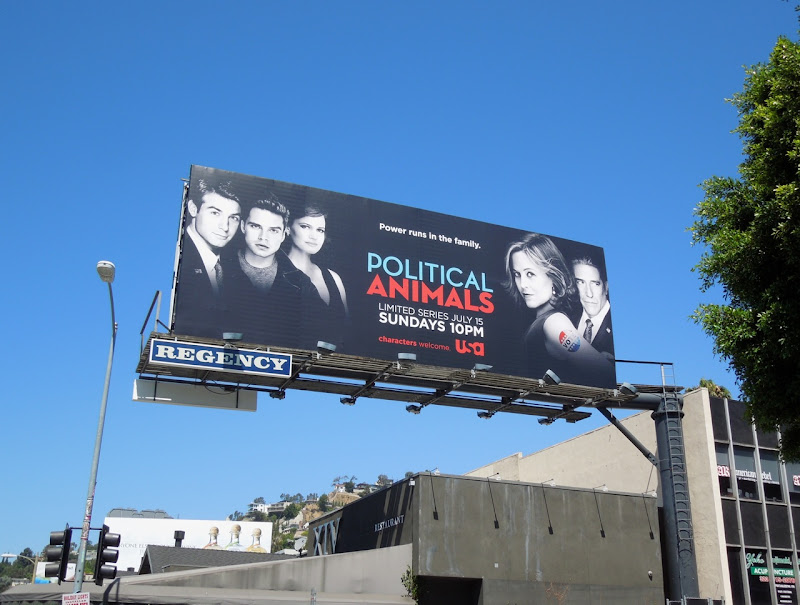 Political Animals USA billboard