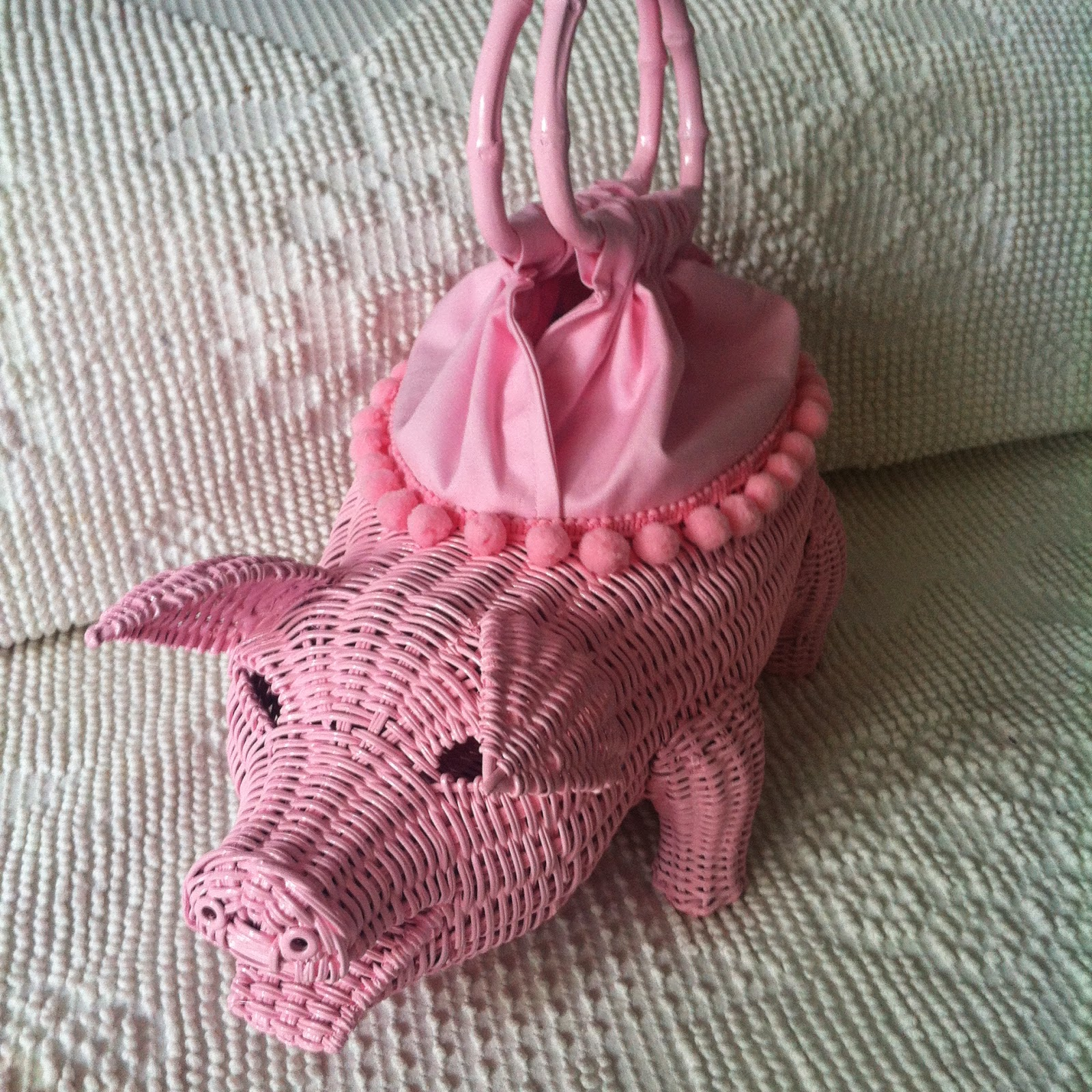 figural wicker purse