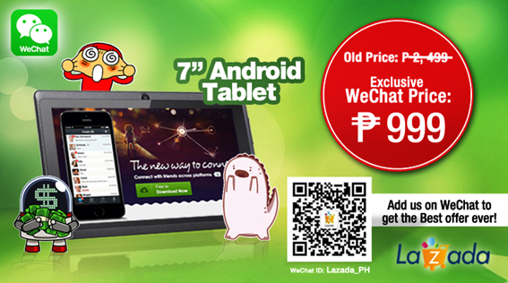 Best Offer Lazada and WeChat April 2014