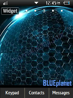 iPad Style Menus Blue Planet Samsung Corby 2 Theme Wallpaper