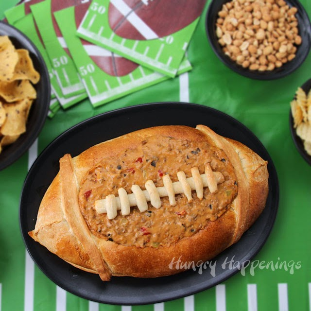 football bread bowl taco dip