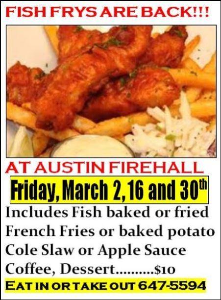 3-30 Fish Fry, Austin, PA