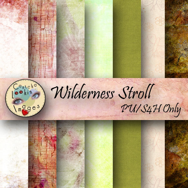 "Free scrapbook quick page  ""Wilderness Stroll"" from Cautchalookinimages"