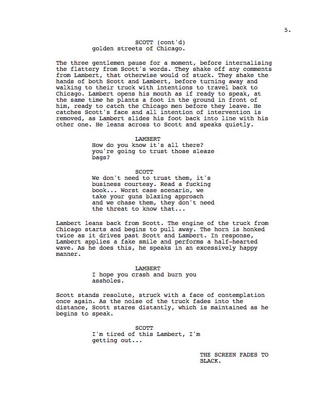 as film studies coursework