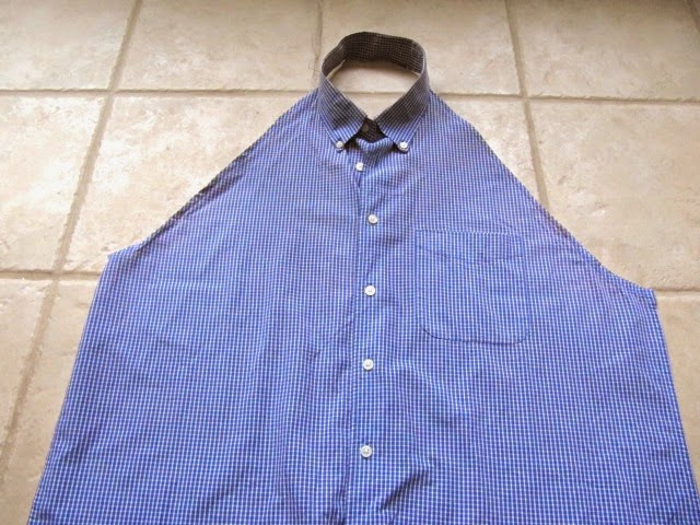 recycled men's shirt apron