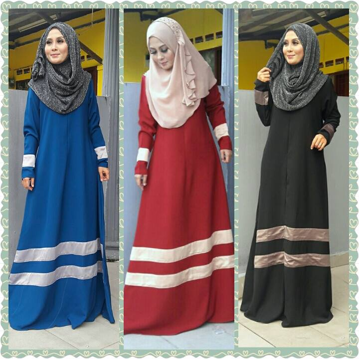 JUBAH DEWASA ( Aisyah ( BLUE / RED/ BLACK ) )