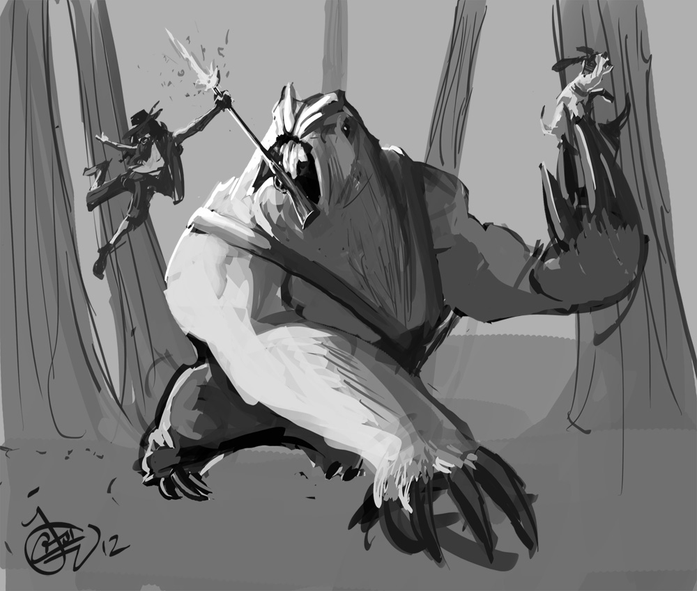 DSG 1649: Fantasy • GIANT BRUTE FIGHTING FAST SMALL IMP