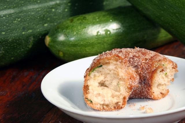 Homemade zucchini bread doughnuts