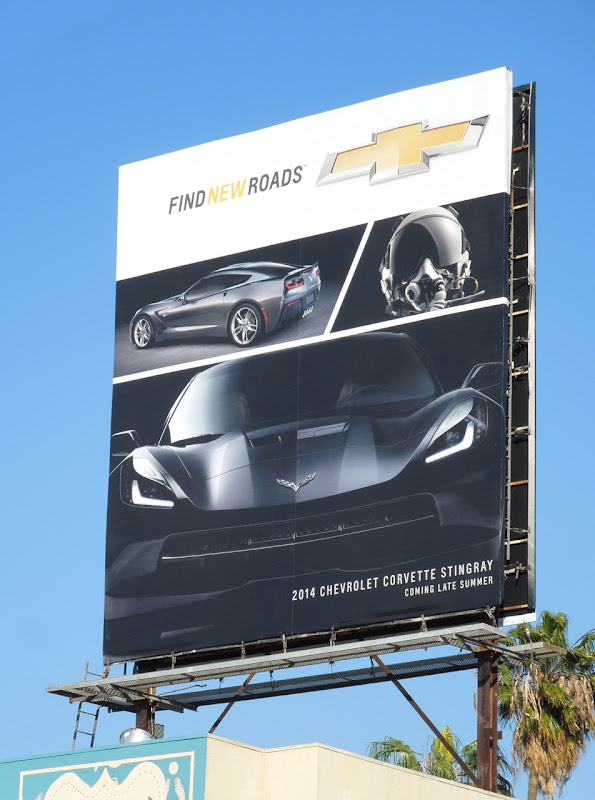 Chevrolet Corvette Stingray Find New Roads billboard