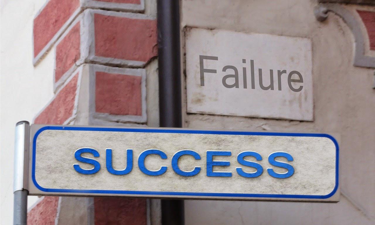 éxito fracaso
