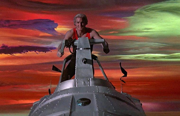 Talentfrei: Sam J. Jones als Titelheld in FLASH GORDON (1980). Quelle: Kinowelt Blu-ray