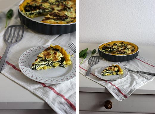 Polenta-Spinat Quiche mit Feta Rezept glutenfrei Holunderweg18