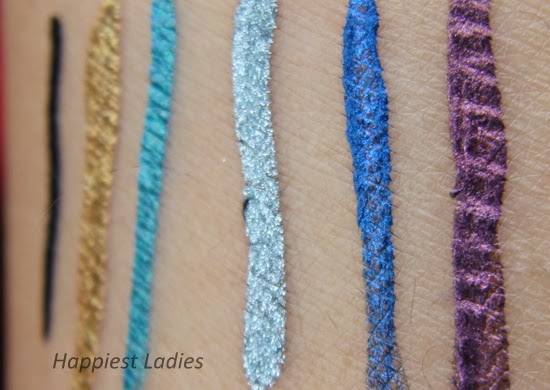 Maybeline Electrics Color Eyeliner swatches