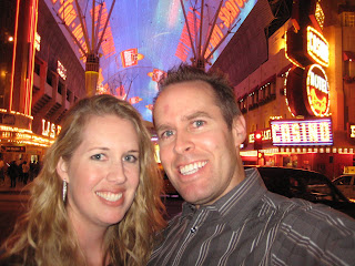 Anna and Noah at Fremont Street