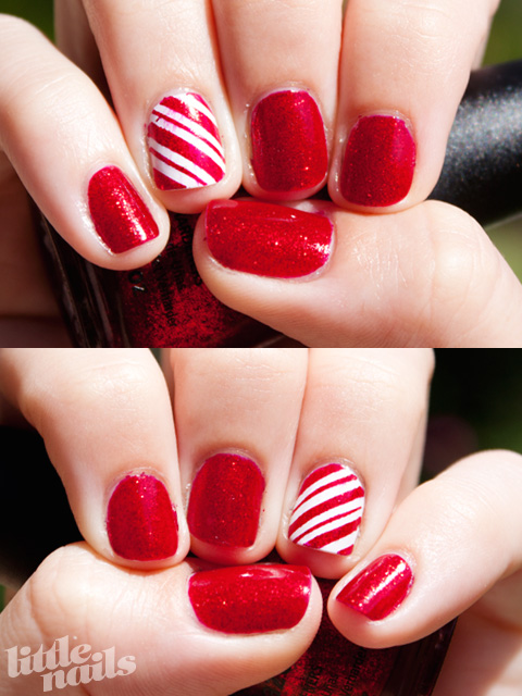 Christmas Candy Cane Nails