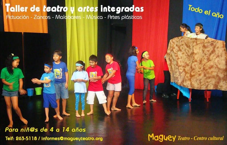 TALLERES DE TEATRO Y ARTES INTEGRADAS TODO EL AÑO
