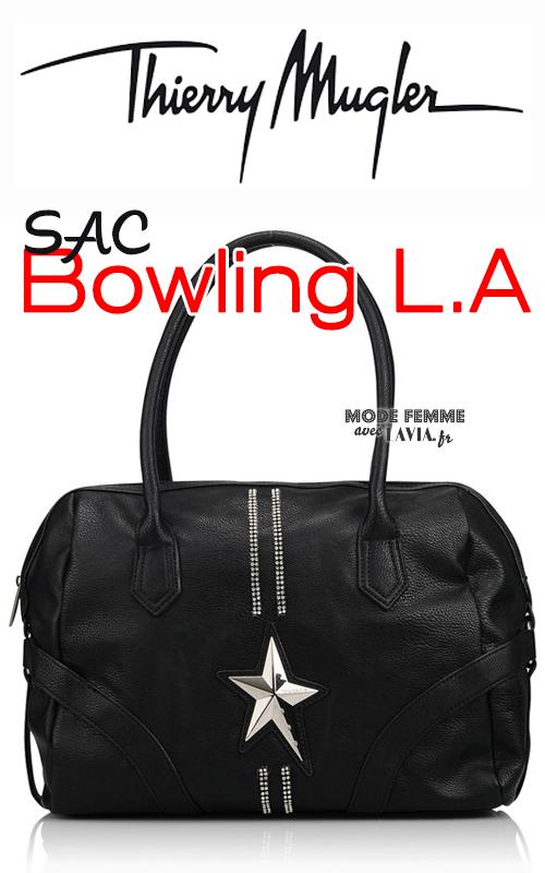 Sac noir bowling Thierry Mugler