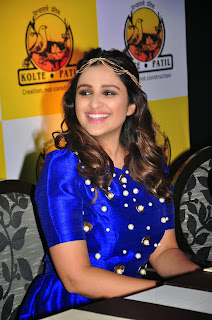 Parineeti Chopra Latest Pictures in Blue Short Dress at KPDL Mobile App Launch ~ Celebs Next