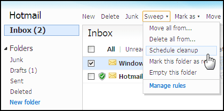 how to delete hotmail email forever