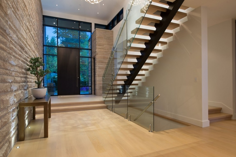 Interior of Elegant modern house in west Vancouver, Canada