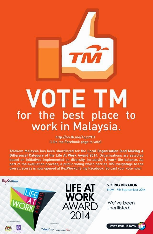 Life At Work Award 2014 - Vote For TM!