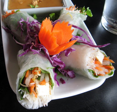 peacock thai summer rolls
