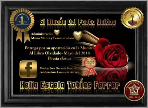 RECONOCIMIENTO DEL GRUPO EL RINCON DEL POETA UNIDOS