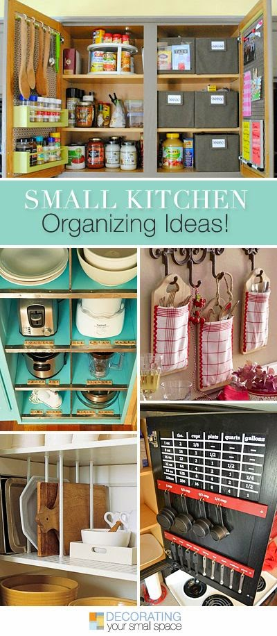 http://www.decoratingyoursmallspace.com/small-kitchen-organizing-ideas/